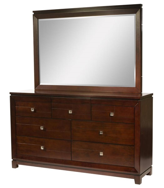 Picket House Easton Cherry Wood Dresser and Mirror PKT-LN600DRMR