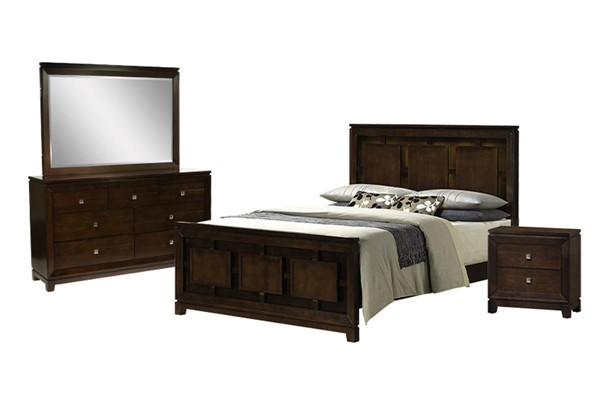 Picket House Easton Cherry Wood 4pc Bedroom Set with King Panel Bed PKT-LN600KB4PC