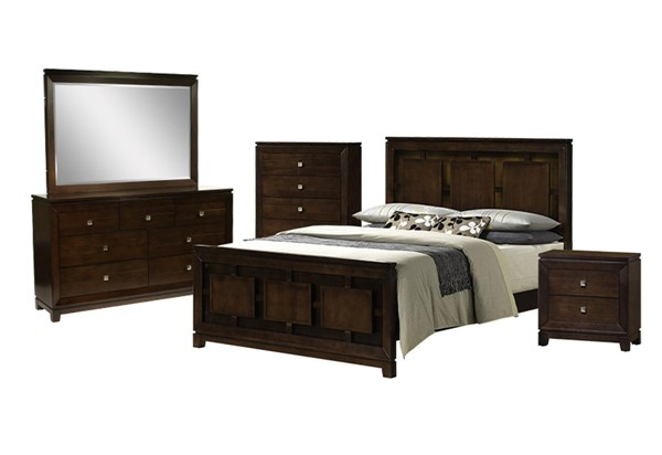 Picket House Easton Cherry Wood 5pc Bedroom Set with King Panel Bed PKT-LN600KB5PC