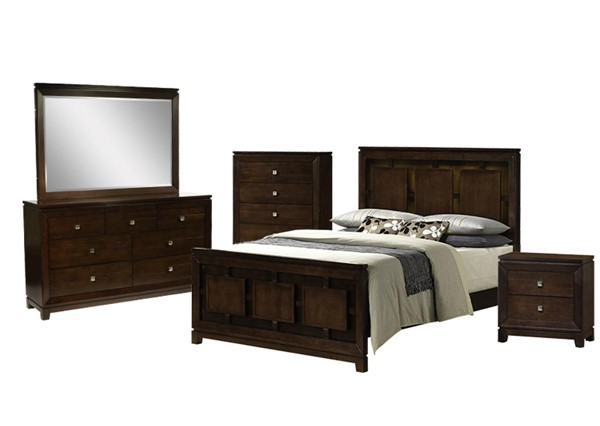 Picket House Easton Cherry Wood 5pc Bedroom Set with Queen Panel Bed PKT-LN600QB5PC