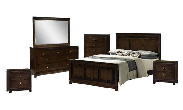 Picket House Easton Cherry Wood 6pc Bedroom Set with Queen Panel Bed PKT-LN600QB6PC