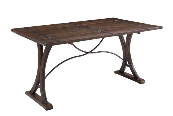 Picket House Camden Dark Brown Folding Top Dining Table PKT-LNB100FTDT