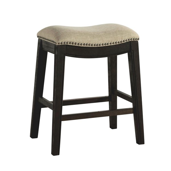 Picket House Miles Espresso Taupe 24 Inch Counter Height Stool PKT-LPK100CST
