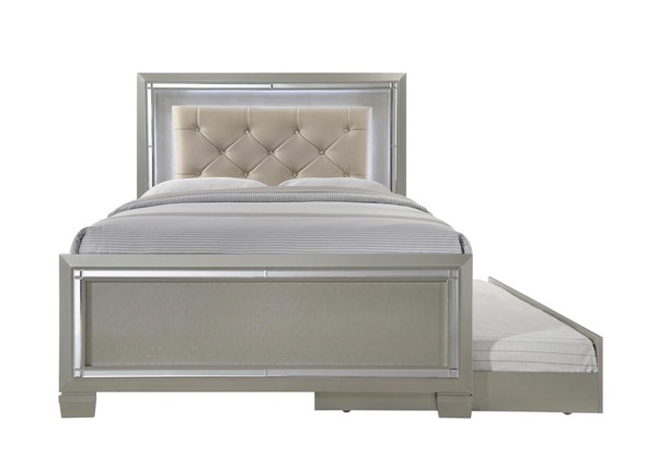 Picket House Glamour Youth Champagne Full Trundle Platform Bed PKT-LT111FTB