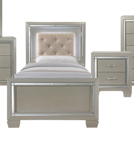 Picket House Glamour Youth Champagne 2pc Bedroom Set with Platform Beds PKT-LT111-BR-S-VAR