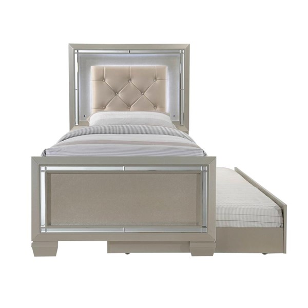 Picket House Glamour Youth Champagne Twin Trundle Platform Bed PKT-LT111TTB