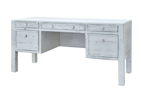 Picket House Lenox White Wood Drawer Desks PKT-M-11240-02-DESK-VAR