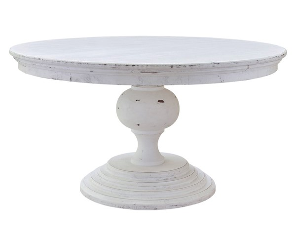 Picket House Brixton White Wood Dining Table PKT-M-22170-DTC