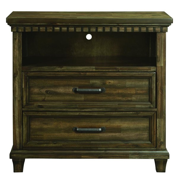 Picket House Johnny Smokey Walnut 2 Drawers Media Chest with Media Compartment PKT-MB600TV
