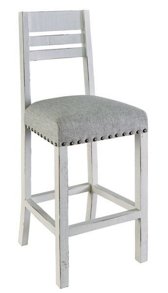 Picket House Robertson White Gray Bar Stool PKT-MDCD700BS