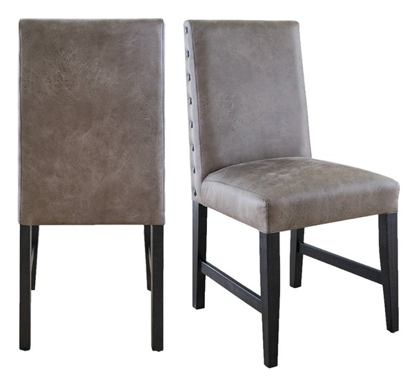2 Picket House Tyler Gray Dining Side Chairs PKT-MDCZ100GFSCW