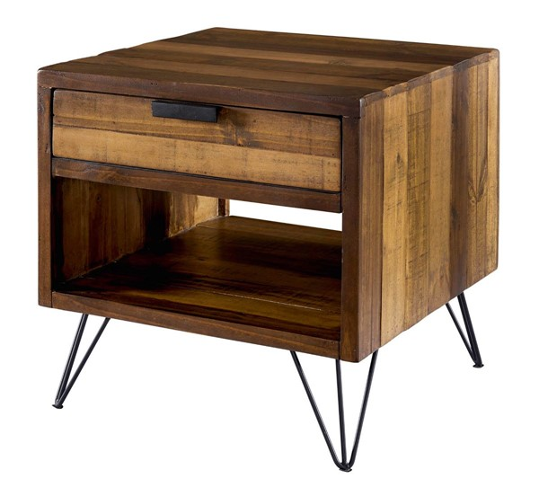 Picket House Tyler Natural Square End Table PKT-MTCZ100ET