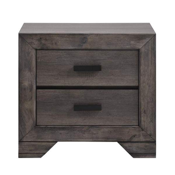 Picket House Grayson Grey Oak 2 Drawers Nightstand PKT-NH100NS