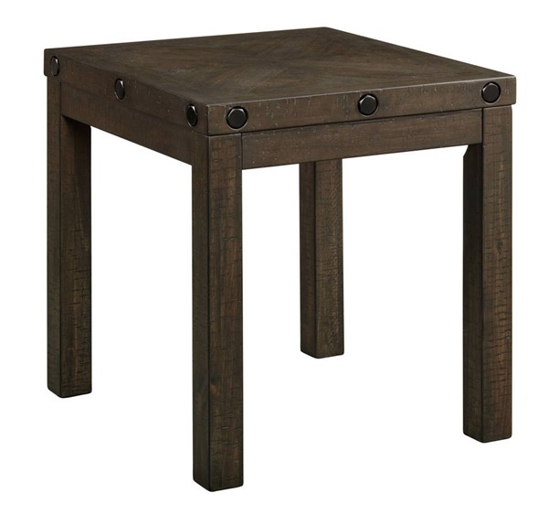Picket House Rio Charcoal End Table with USB PKT-TCO100ETP