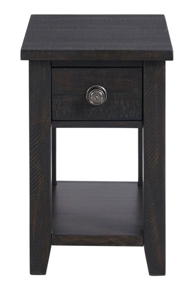 Picket House Kahlil Espresso 1 Drawer Chairside Table with USB PKT-TKN100CTP