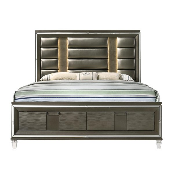 Picket House Charlotte Copper 2 Drawers Storage King Bed PKT-TN600KB