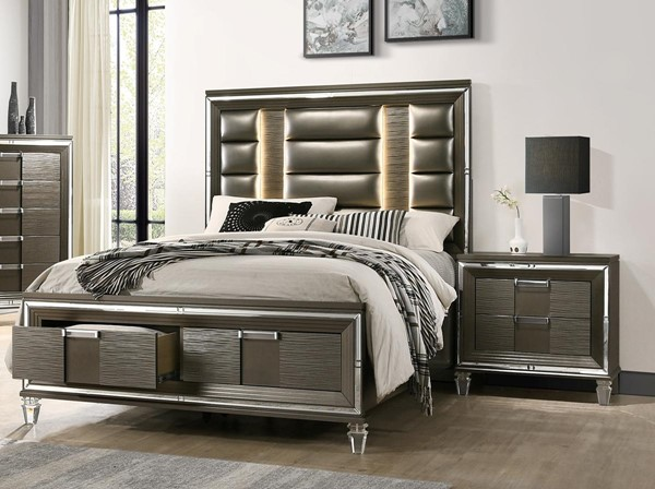 Picket House Charlotte Copper Wood 2pc Bedroom Sets with King Drawer Bed PKT-TN600-BR-S2