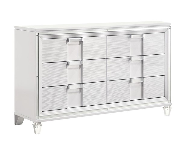 Picket House Charlotte Youth White 6 Drawers Dresser PKT-TN777DR
