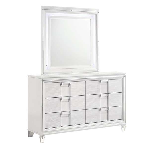 Picket House Charlotte Youth White Dresser and Mirror PKT-TN777DRMR