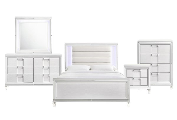Picket House Charlotte Youth White 5pc Kids Bedroom Set with Full Bed PKT-TN777F5PC