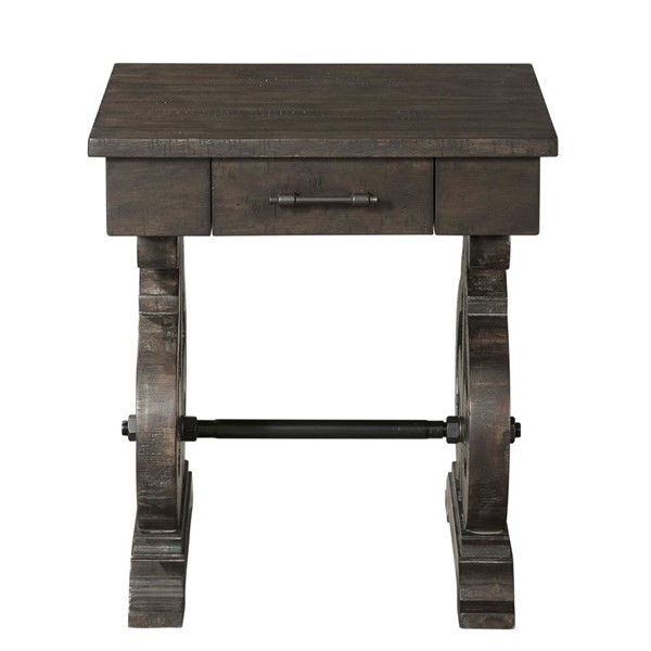 Picket House Stanford Smokey Walnut Square Chair Side Table PKT-TST100ST