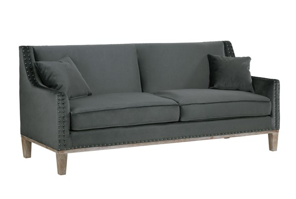 Picket House Aster Charcoal Fabric Wood Sofa PKT-UAG813300DWBHT