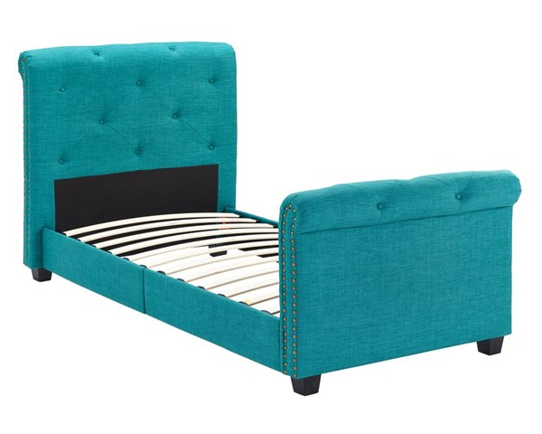Picket House Addie Teal Fabric Upholstered Twin Platform Bed PKT-UAI087THG