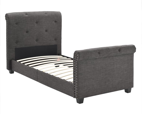 Picket House Addie Charcoal Fabric Upholstered Twin Platform Bed PKT-UAI090THG