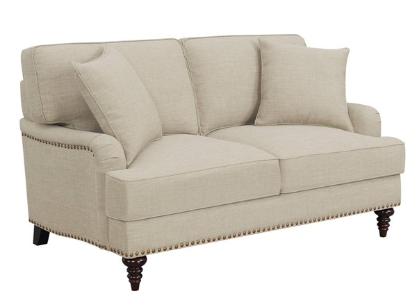 Picket House Cassandra Natural Fabric Loveseat PKT-UBB082200E