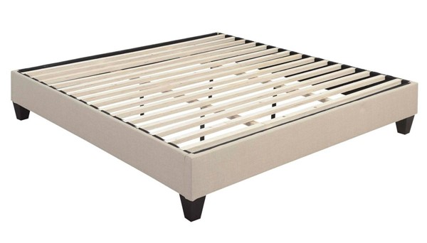 Picket House Abby Natural Fabric King Platform Bed PKT-UBB082KBBO