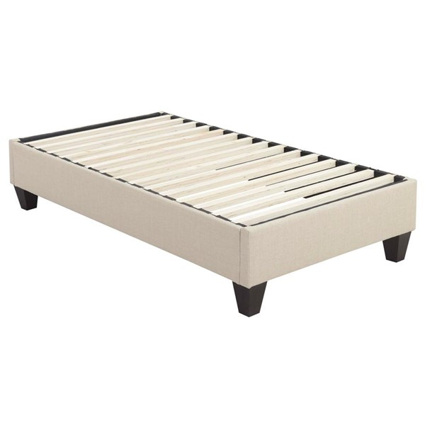 Picket House Abby Natural Fabric Twin Platform Bed PKT-UBB082TBBO
