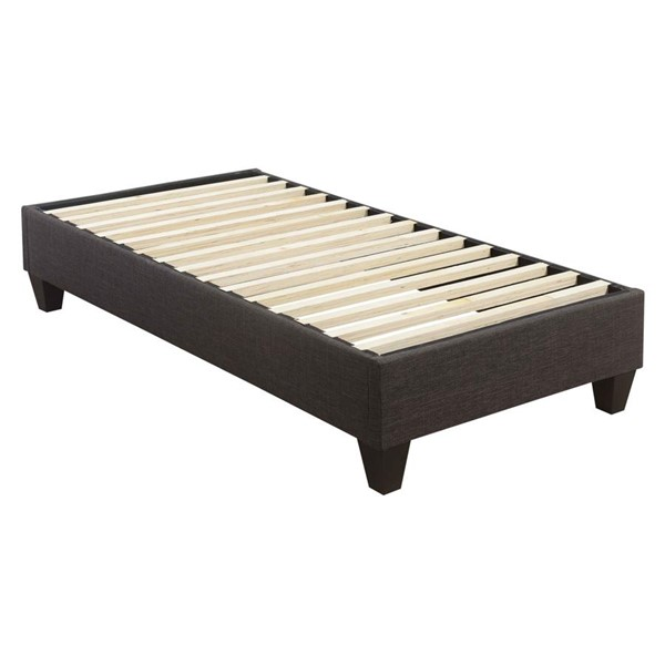 Picket House Abby Charcoal Fabric Twin Platform Bed PKT-UBB090TBBO