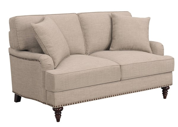 Picket House Cassandra Smoke Fabric Loveseat PKT-UBB091200E