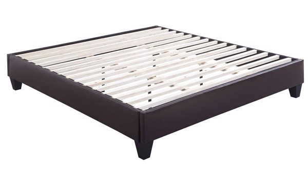 Picket House Abby Brown Faux Leather Fabric King Platform Bed PKT-UBB101KBBO
