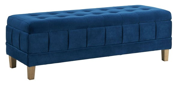 Picket House Jude Cobalt Fabric Tufted Storage Ottoman PKT-UCB1815001WWE