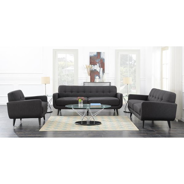 Picket House Hailey Charcoal Fabric 3pc Living Room Set PKT-UHD0903PC