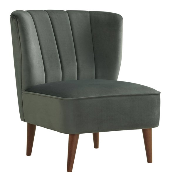 Picket House Corbin Gun Metal Velvet Fabric Accent Chair PKT-UHF288101WLE