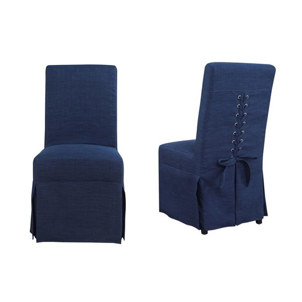 2 Picket House Hayden Blue Fabric Parsons Dining Chairs PKT-UHI080102