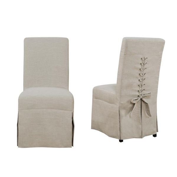 2 Picket House Hayden Natural Fabric Parsons Dining Chairs PKT-UHI082102