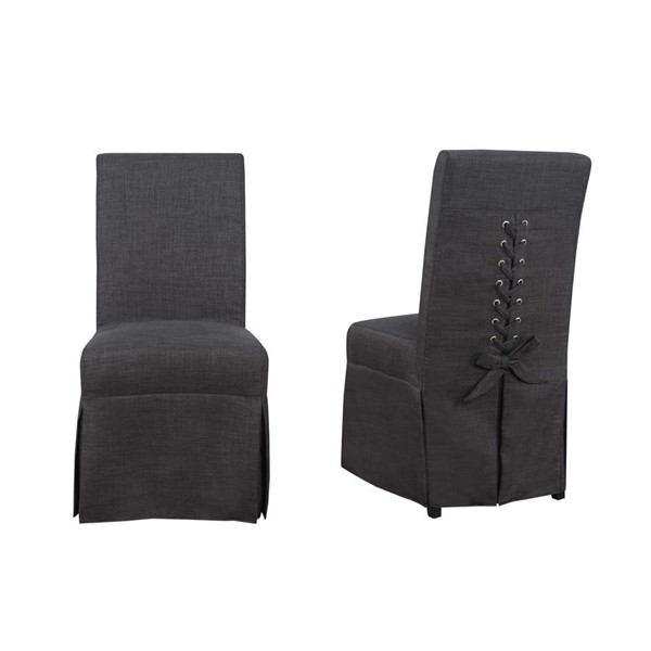 2 Picket House Hayden Charcoal Fabric Parsons Dining Chairs PKT-UHI090102
