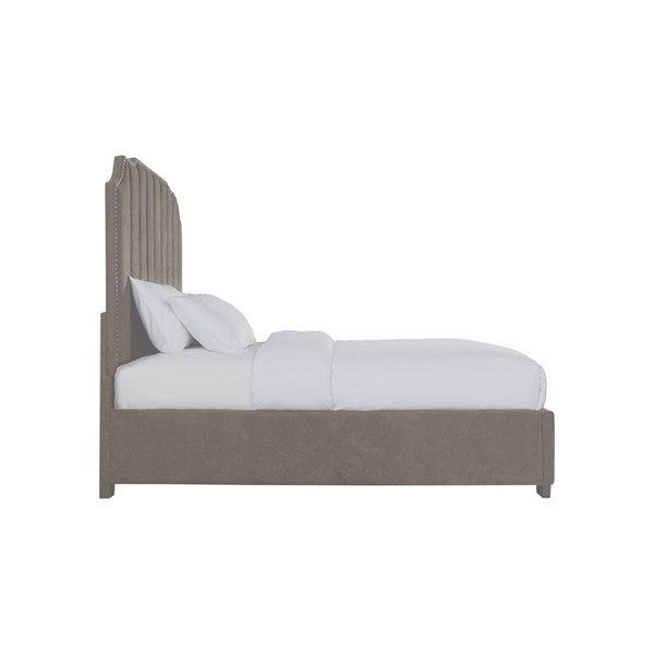 Picket House Duncan Brown Fabric Queen Upholstered Bed PKT-UHR3153QB