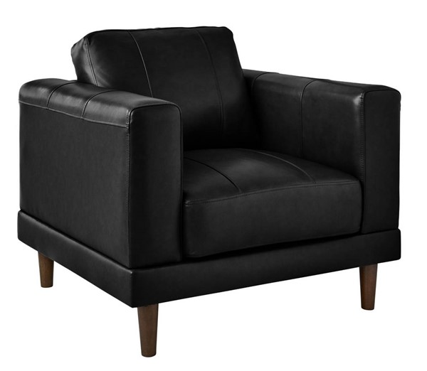 Picket House Hanson Black Leather Chair PKT-UHT3780100