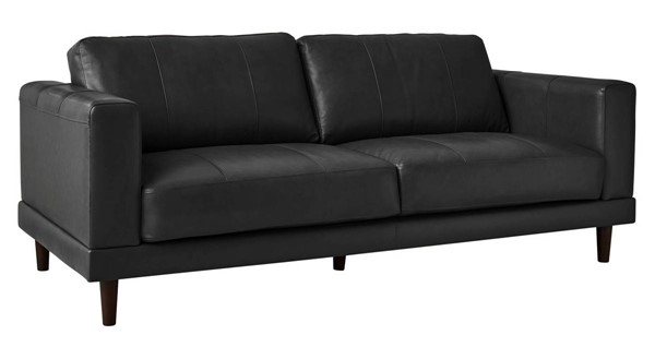 Picket House Hanson Charcoal Leather Sofa PKT-UHT3782300
