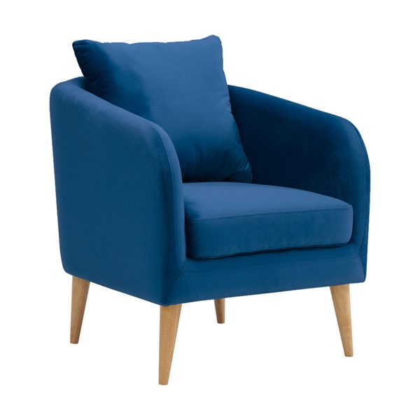 Picket House Zoe Navy Fabric Accent Chair PKT-UJS286101WLE