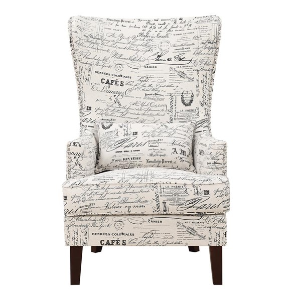 Picket House Kegan French Script Fabric Nailhead Accent Chair PKT-UKR636100