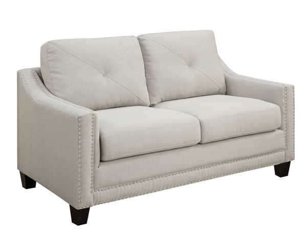 Picket House Mauldin Taupe Fabric Loveseats PKT-UMO08-201-LS-VAR