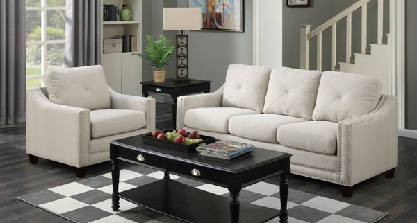 Picket House Mauldin Taupe Fabric 2pc Sofa and Chair Set PKT-UMO086SC2PC