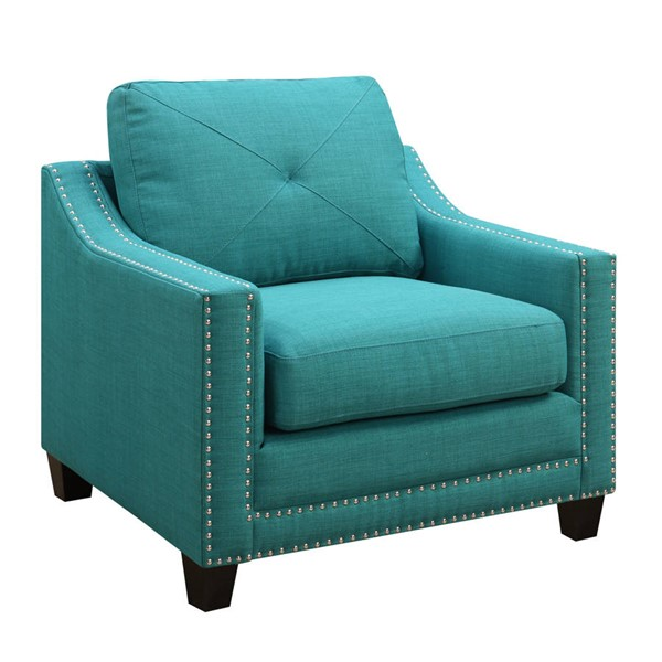 Picket House Mauldin Teal Fabric Chair PKT-UMO087100