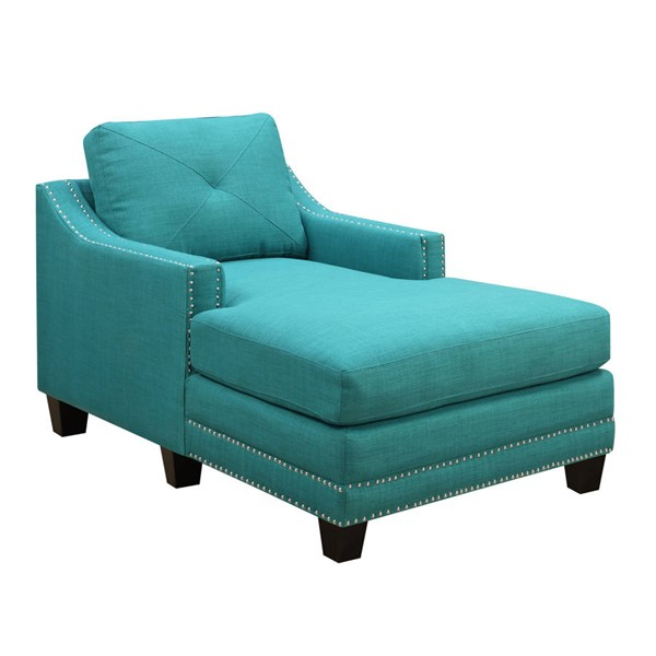 Picket House Mauldin Teal Fabric Chair Chaise PKT-UMO087101