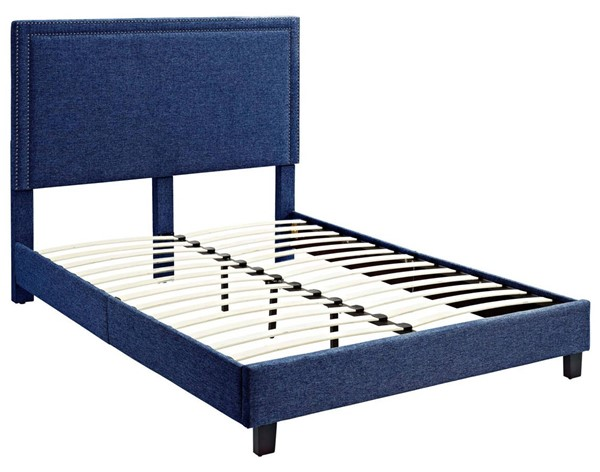 Picket House Emery Blue Upholstered Full Platform Bed PKT-UMY080FB